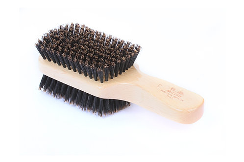 R.S. Stein 113 Maple Wood   2-Sided Club Hairbrush with Firm and Soft Bristles
