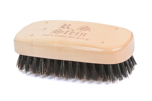 R.S. Stein 107 Maple Wood   Military Rectangle Hairbrush with Firm Natural Brist
