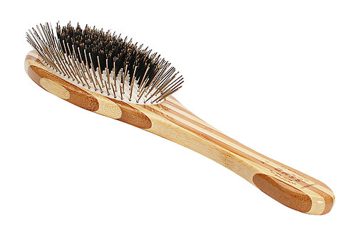 The Hybrid Groomer - Large Oval  |  Striped Bamboo