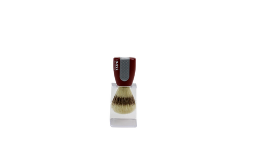 Bass SB10 Red  |  Shaving Brush with Natural Bristles