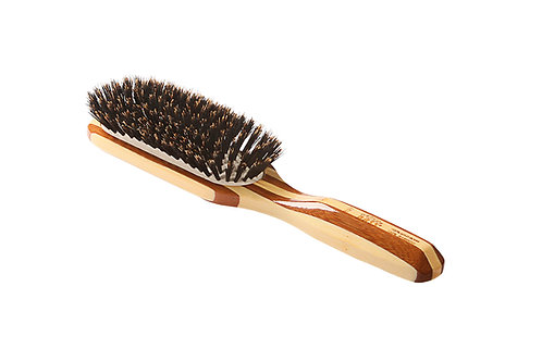 Bass 897M Striped Bamboo | Medium Paddle Hairbrush with Firm Bristles