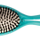 Thumbnail: ECF5.51 BIO-FLEX Shine Teal  Oval Leaf Shape Hairbrush with Plant Base