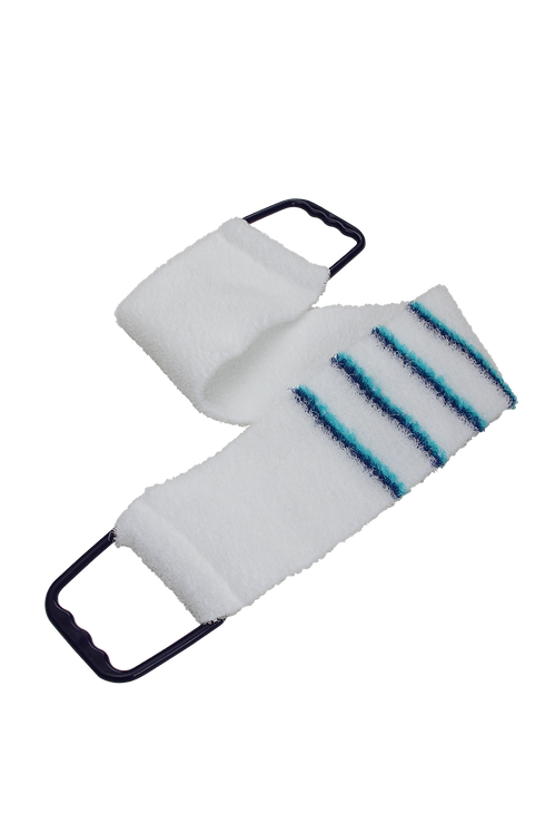 Bass 1143 Snowy White |  Premium Nylon Body Exfoliating Strap