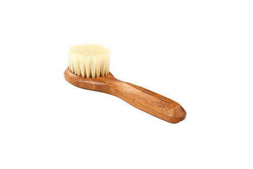 Bass 406 Dark Bamboo  |  Facial Brush with Firm Natural Bristles