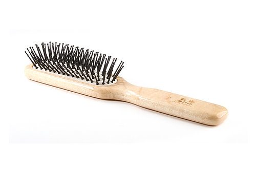 R.S. Stein 104 Maple Wood | 6 Row Hairbrush with Premium Nylon Pins