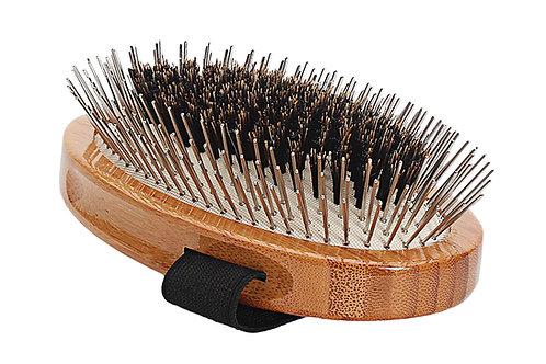 The Hybrid Groomer A5 Dark Bamboo  |  Palm Style Brush
