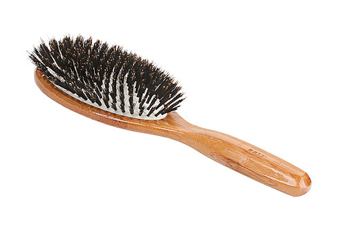 Bass 899 Dark Bamboo | Large Oval Hairbrush with Firm Natural Bristles