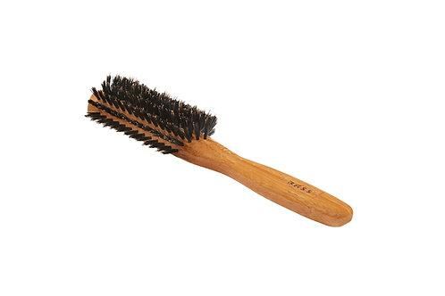 Bass 206 Dark Bamboo | Half Round Hairbrush with Firm Natural Bristles