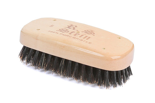 R.S. Stein 107 Maple Wood | Military Rectangle Hairbrush with Firm Natural Brist