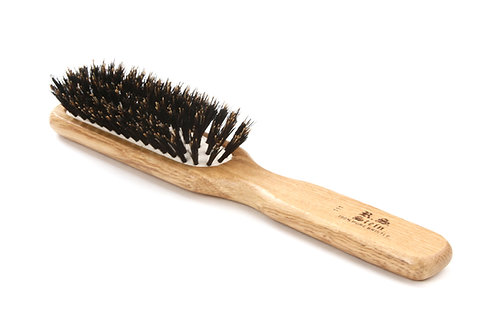 R.S. Stein 111 Oak Wood | 7 Row Hairbrush with Firm Natural Bristles