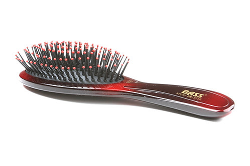 Bass 900 Ruby Burst | Large Oval Hairbrush with Nylon Pins