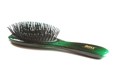 Bass 900 Emerald Burst | Large Oval Hairbrush with Nylon Pins