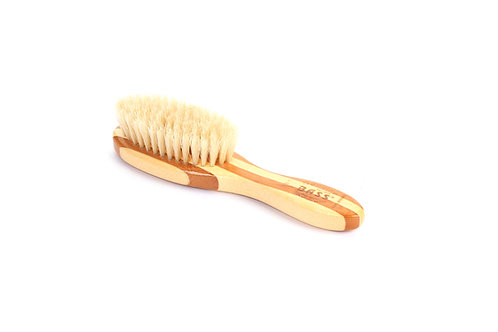Bass BB1 Striped  |  Extra Small Oval Style Hairbrush with Natural Bristles