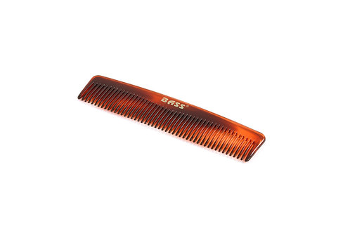 Bass TC2 Tortoise Shell | Fine Tooth Style Grooming Comb