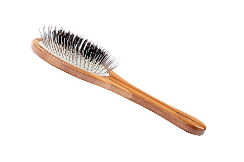 The Hybrid Groomer A1 Dark Bamboo  |  Medium Oval Brush
