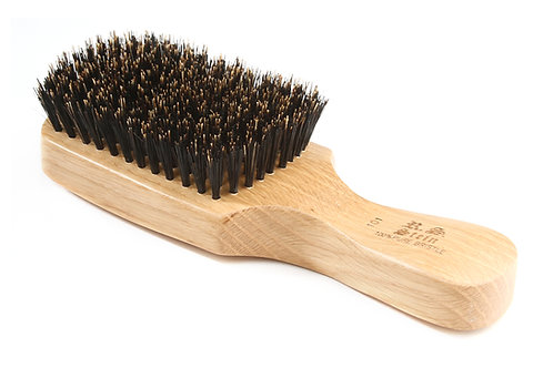 R.S Stein 101 Oak Wood | Classic Club Hairbrush with Firm Natural Bristles