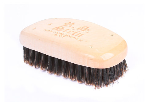R.S. Stein 108 Maple Wood | Military Rectangle Hairbrush with Soft Natural Brist