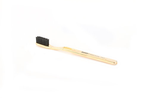 Bass TB4 Gold | Toothbrush with Acylic Handle with Nylon Bristles
