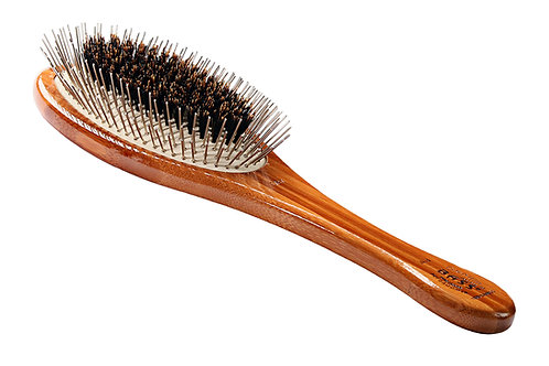 The Hybrid Groomer - Large Oval  |  Dark Bamboo
