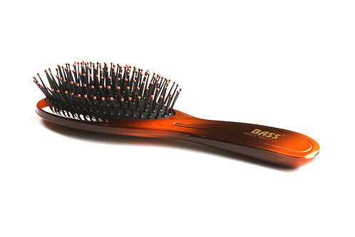 Bass 900 Amber Burst | Large Oval Hairbrush with Nylon Pins