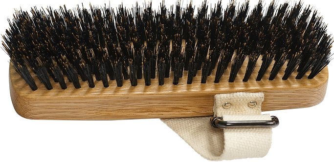 Bass A30 Dark Finish  |  Palm Style Equine Brush with Natural Bristles
