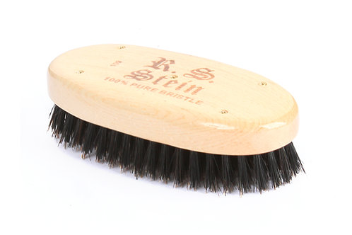 R.S. Stein 109 Maple Wood | Military Oval Hairbrush with Firm Natural Bristles