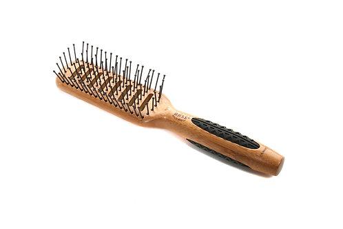Bass 701 Dark Bamboo | Vented Hairbrush with Nylon Pins