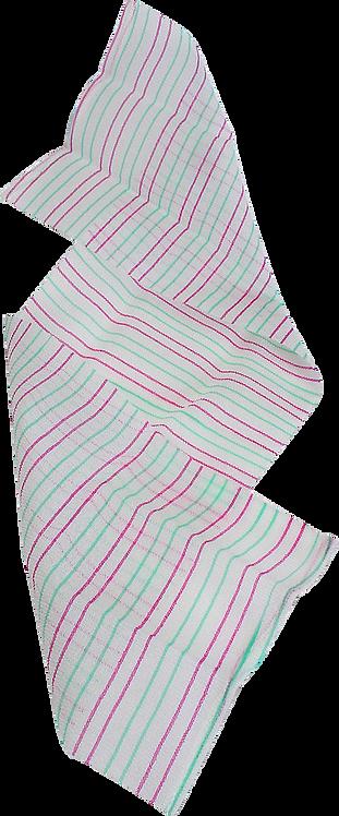 Bass BC1F Green & Pink Candy Cane  |  Premium Nylon Exfoliating Body Cloth FIRM