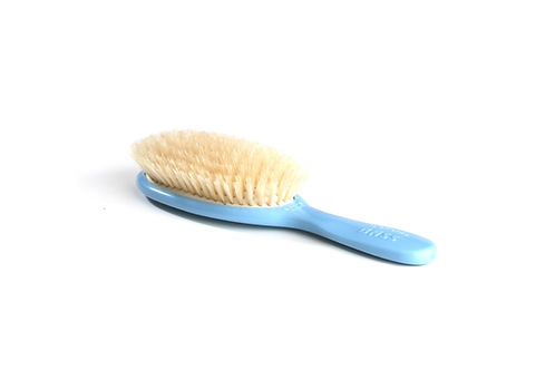 Bass BB2B Baby Blue  |  Extra Small Oval Style Hairbrush with Natural Bristles