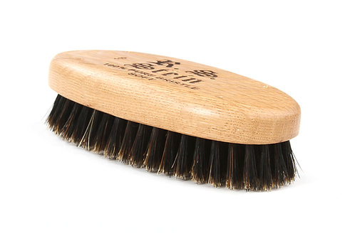 R.S. Stein 110 Oak Wood   Military Oval Hairbrush with Soft Natural Bristles