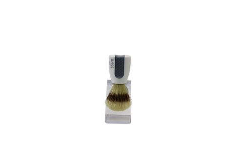 Bass SB10 Snowy White  |  Shaving Brush with Natural Bristles