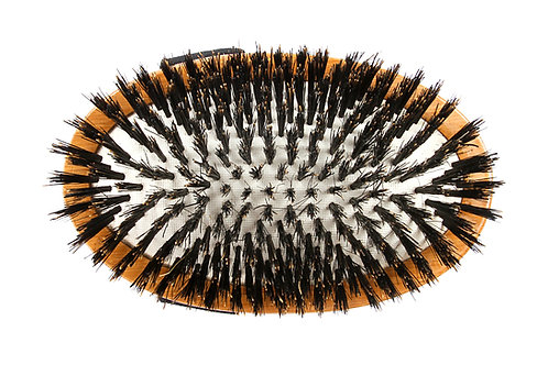 Bass A2 Dark Bamboo  |  Palm Style Brush with Natural Bristles