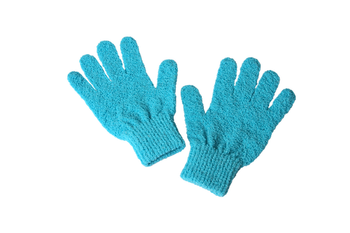 Bass S58F Teal  |  Premium Firm Nylon Body Exfoliating Gloves