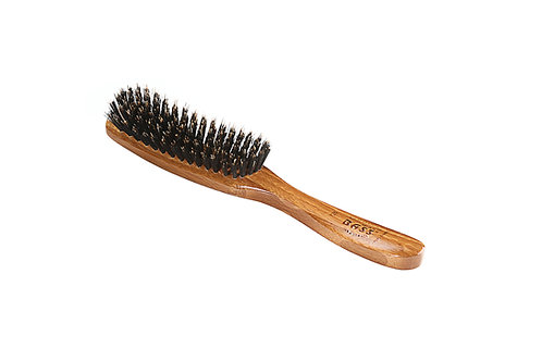 Bass 126 Dark Bamboo | 7 Row Contour Hairbrush with Firm Natural Bristles