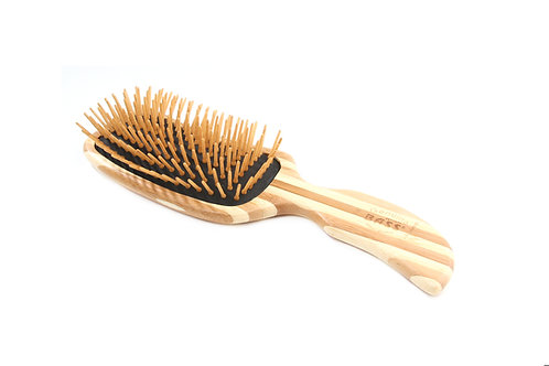 The Green Brush 19 | Semi 'S' Hairbrush with Bamboo Pins + Bamboo Handle