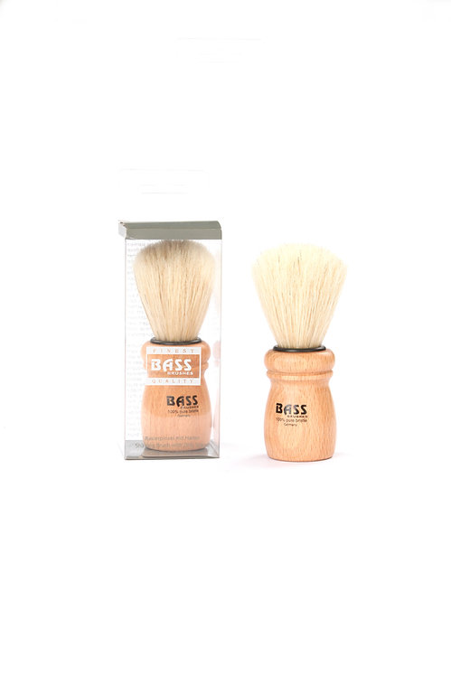 Bass SB12 Beechwood  |  Deluxe Shaving Brush with Natural Bristles