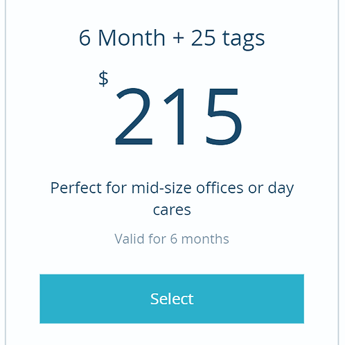 6 month subscription to dashboard + 25 tags