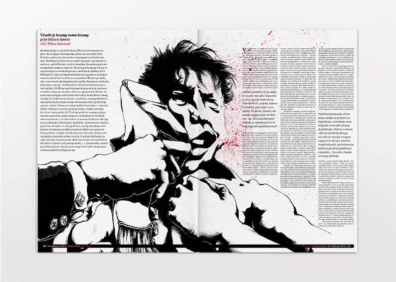 Violence in culture editorial illustration