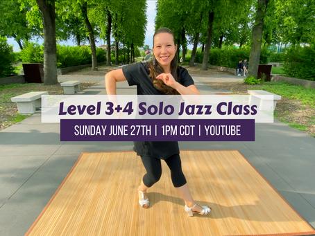 Level 3+4 Live Class 6/27/21 1pm CDT