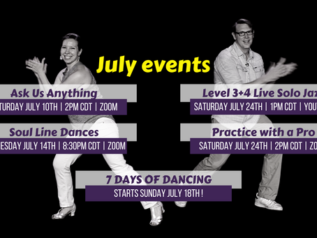 July live events for members!