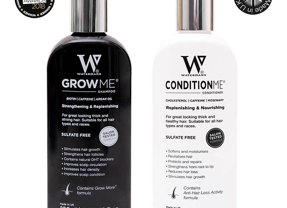 Watermans Grow Me Shampoo & Condition Me Conditioner Set