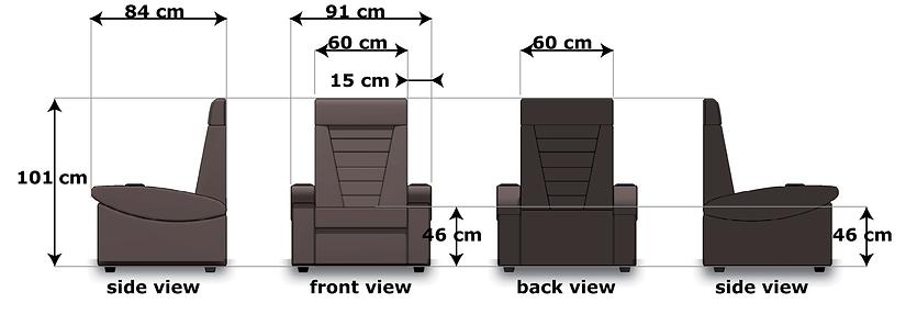 Domus single seats dimensions