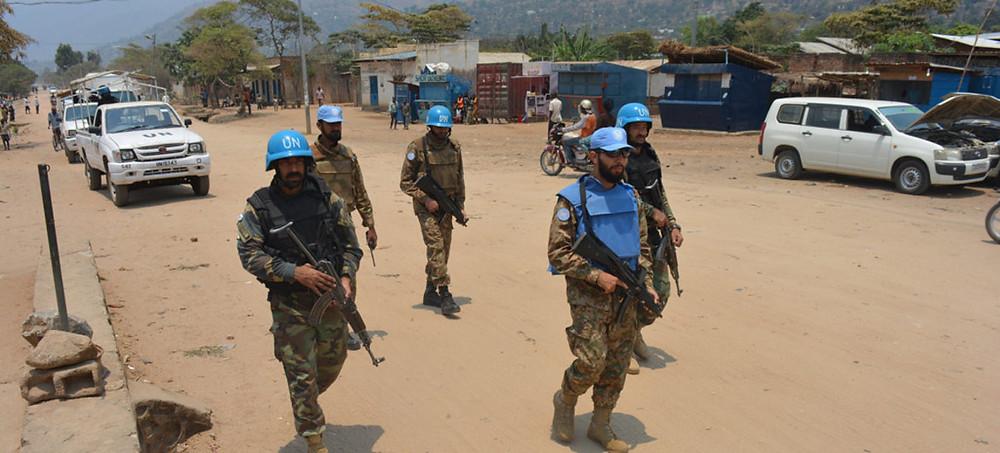 Des Casques bleus de la MONUSCO patrouillent à Uvira dans le Sud-Kivu, en RDC (archives) (MONUSCO/Force)