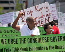 Portland protest march calls attention to plight of Congolese minority