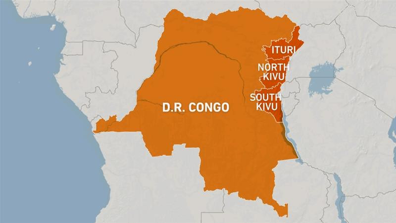Map of the DRC by Al Jazeera
