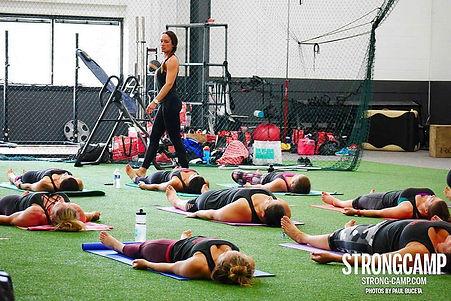 Rah Evolution Yoga Class at StrongCamp