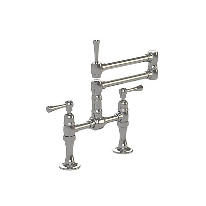 1013 -Deck Mount Bridge Mixer Articulated Spout