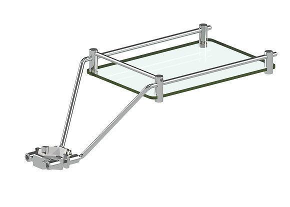 2060 Glass Accessory Shelf - Chrome Finish