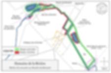 Carte du parcours de pêche à la mouche