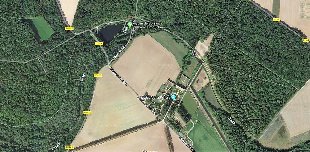 Carte du Domaine de la Rivière